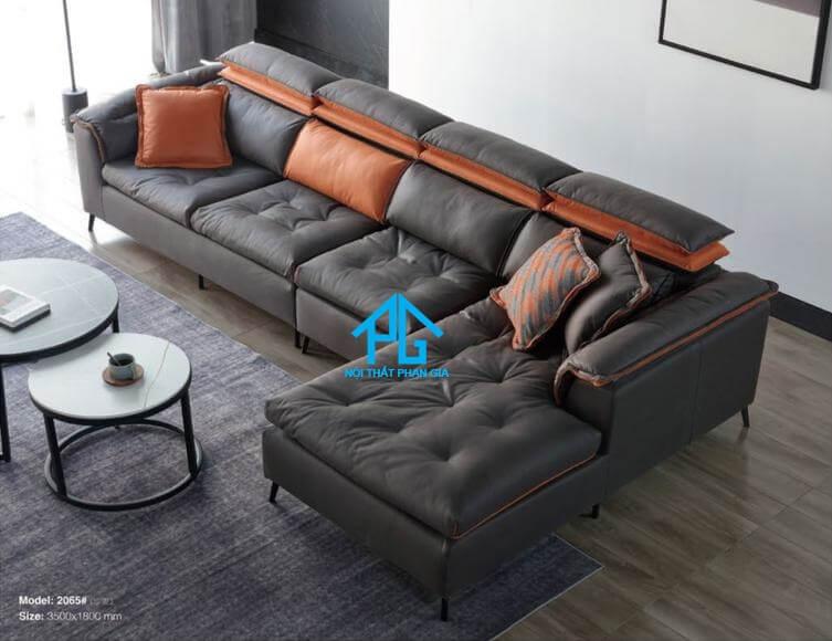 Sofa da nhập khẩu PG 3025