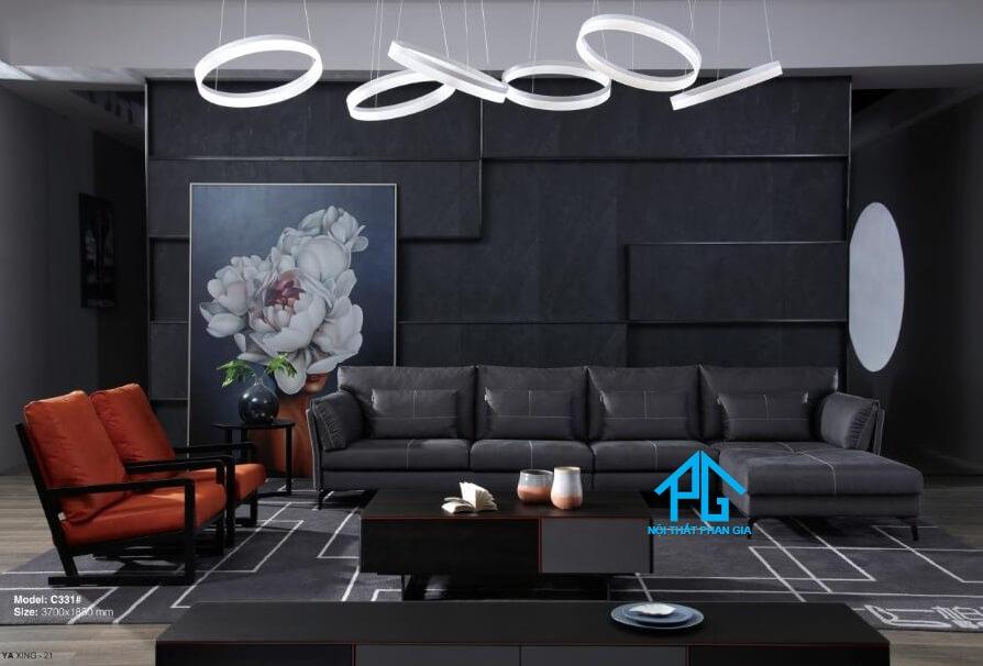 Sofa da nhập khẩu PG C31