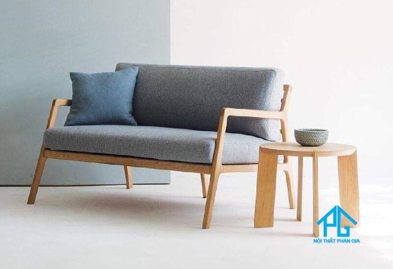 sofa đôi 2 chỗ ngồi bằng gỗ