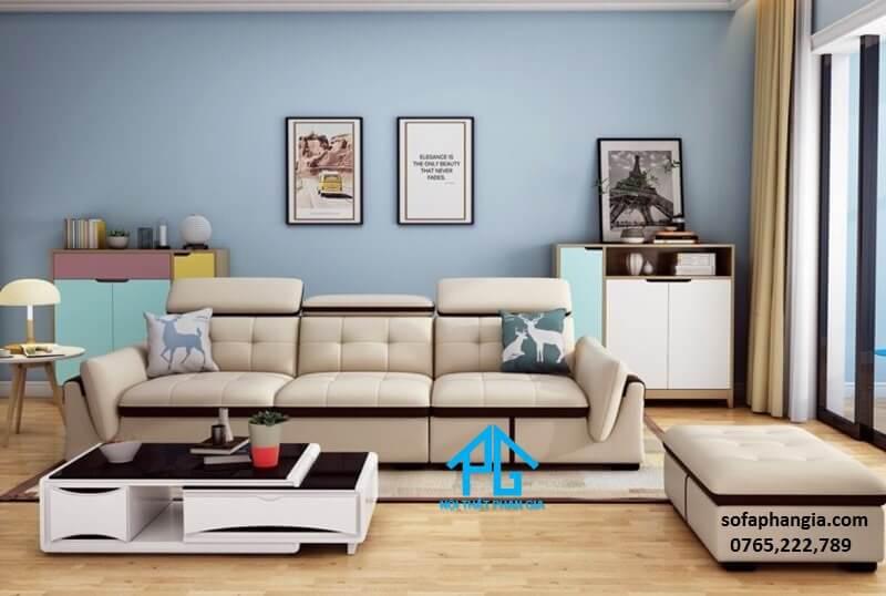 sofa giường chất vải;