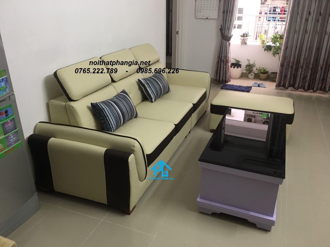 sofa giường phong cách vintage;