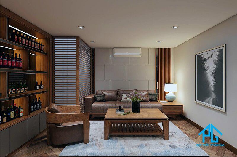 sofa gỗ công nghiệp