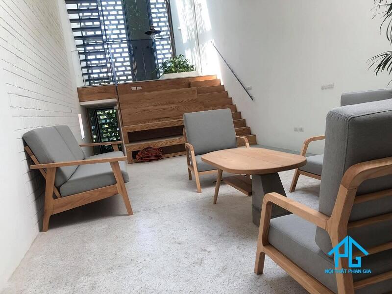 sofa gỗ đơn đẹp