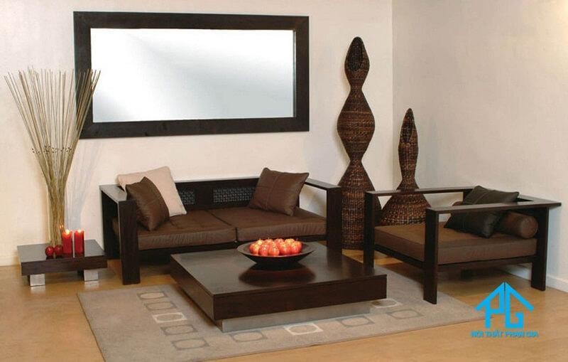 sofa gỗ hương kiểu cách