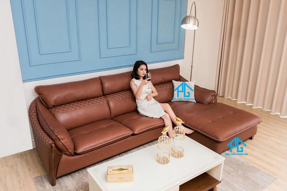 sofa hiện đại phong cách vintage;