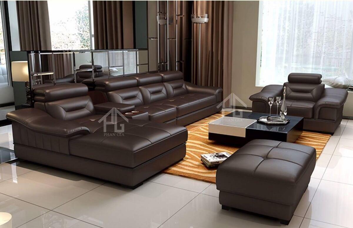 sofa hiện đại tươi sáng;