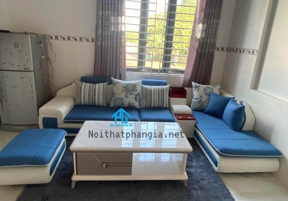 sofa nhung đơn giản;