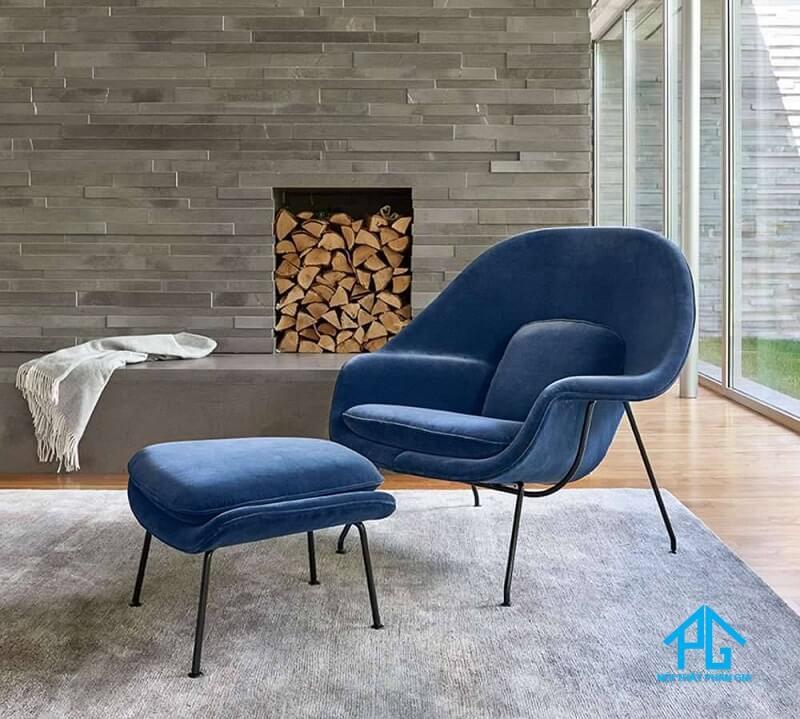 sofa nhung đơn giản
