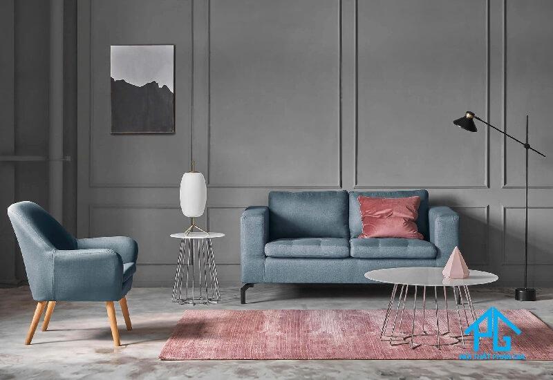 sofa nhung hiện đại