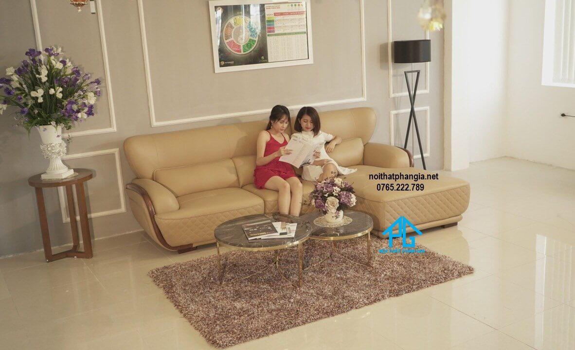 sofa phòng khách cao cấp nhập khẩu đẹp sang trọng;