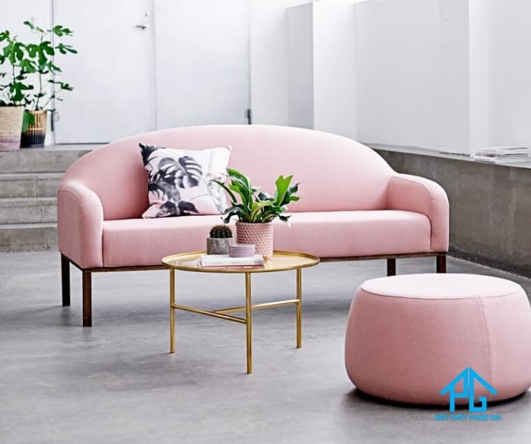 sofa vải bố độc đáo