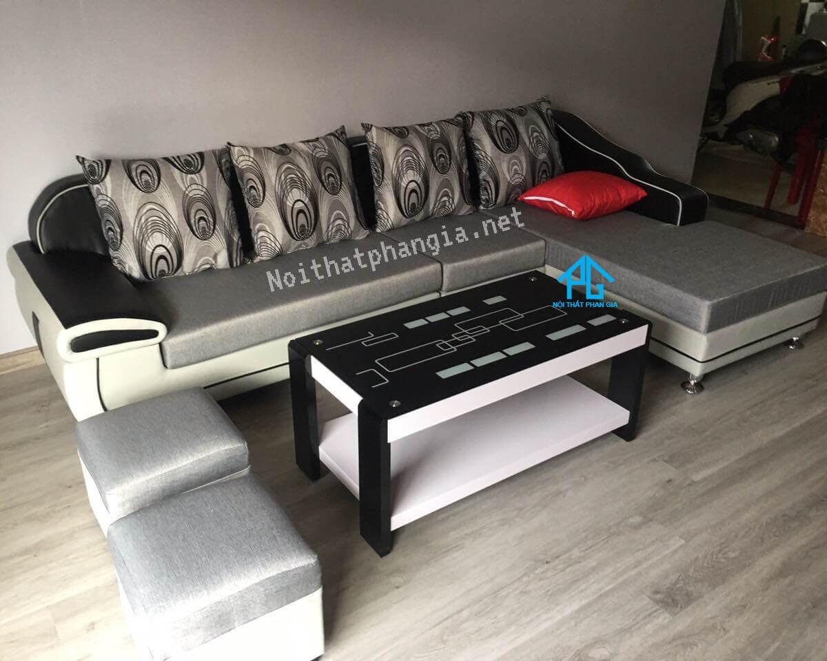 sofa vải bố hiện đại;