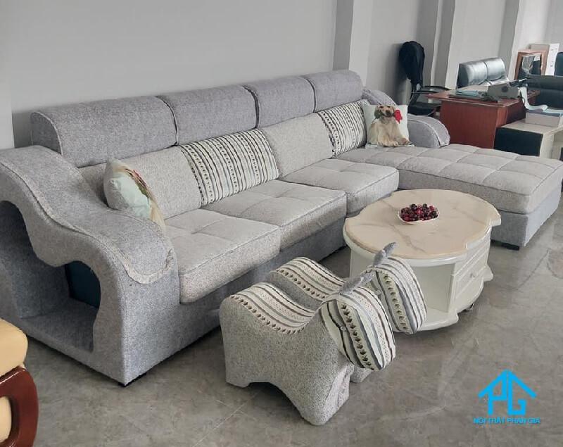 sofa vải bố hiện đại
