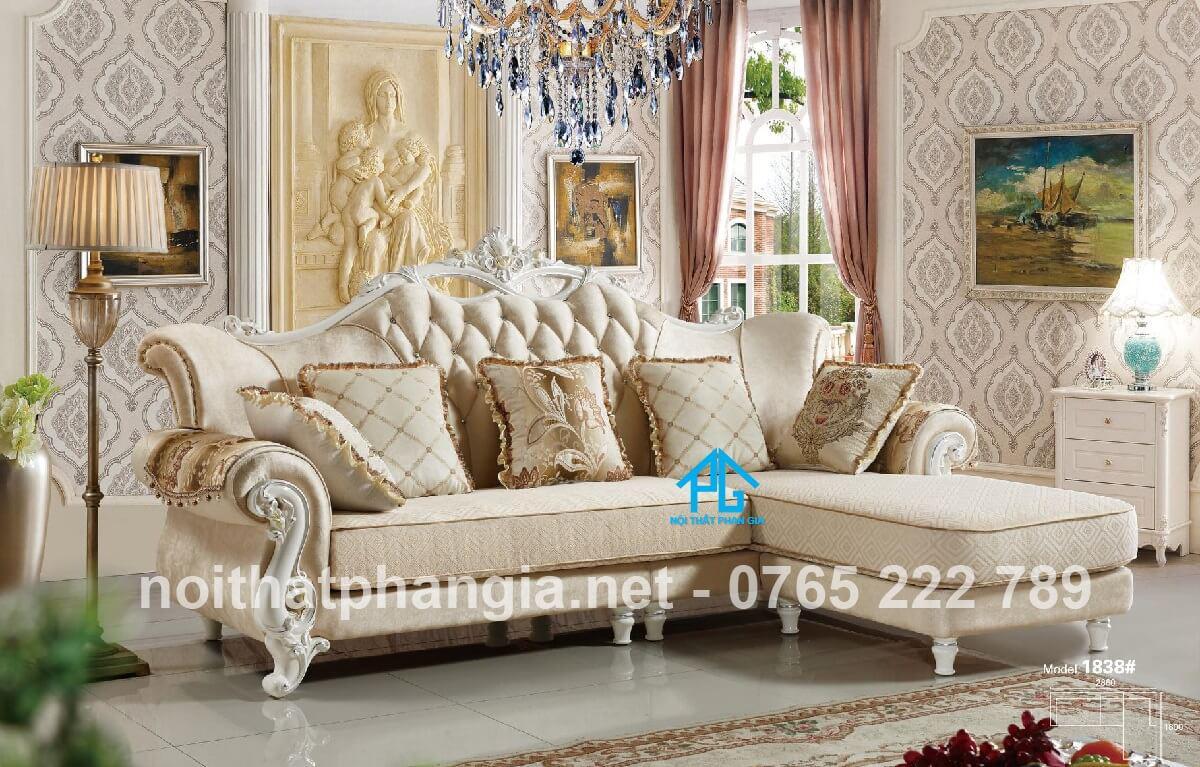 sofa vải bố thiết kế cao cấp;