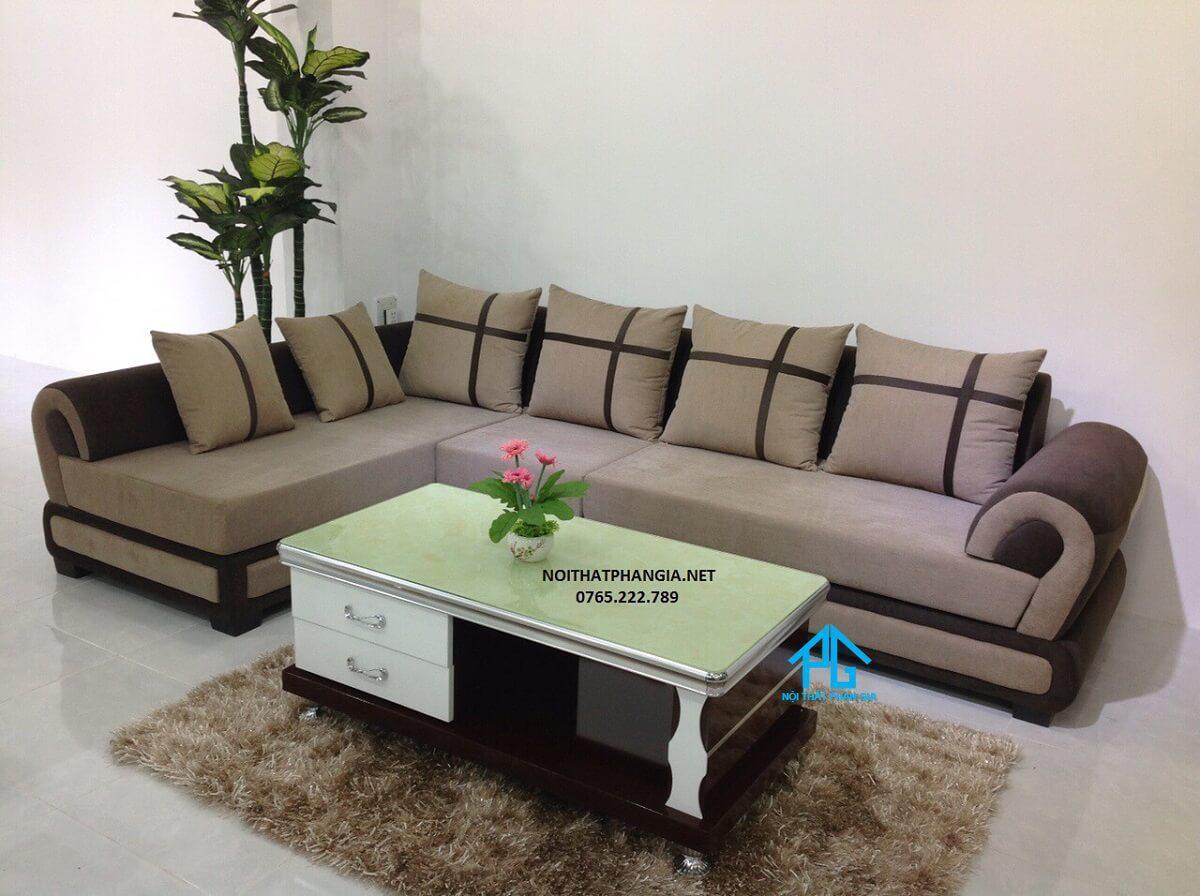 sofa vải cao cấp sang trọng;