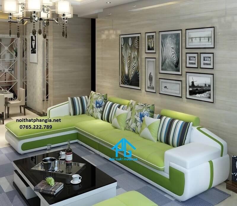 sofa vải nhung phong cách hoàng gia;