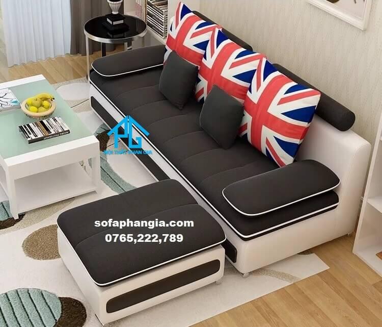 sofa vải nhung tân cổ điển;