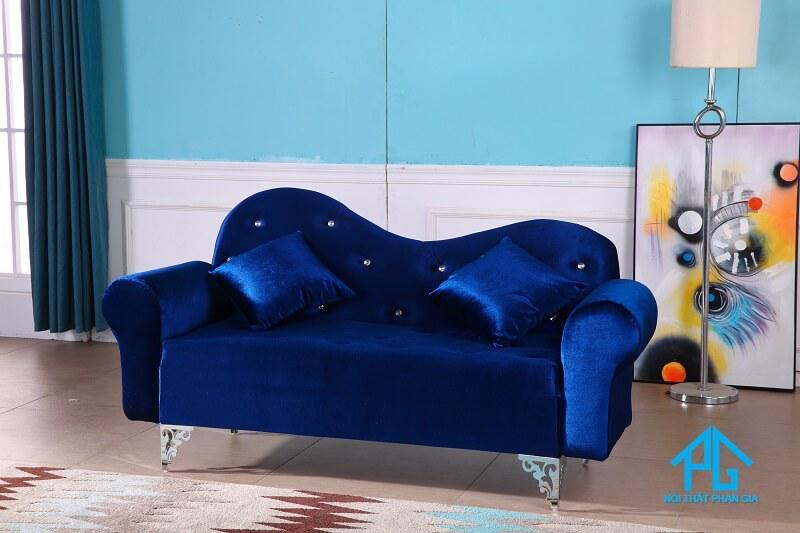 sofa vải nhung tân cổ điển