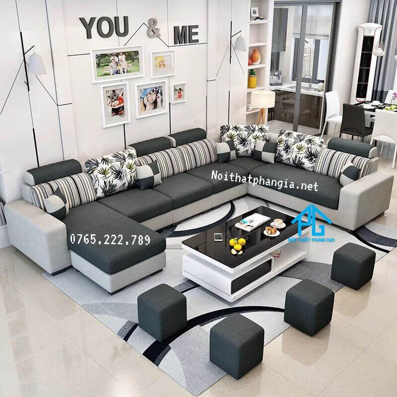 sofa vải nỉ cho phòng nhỏ