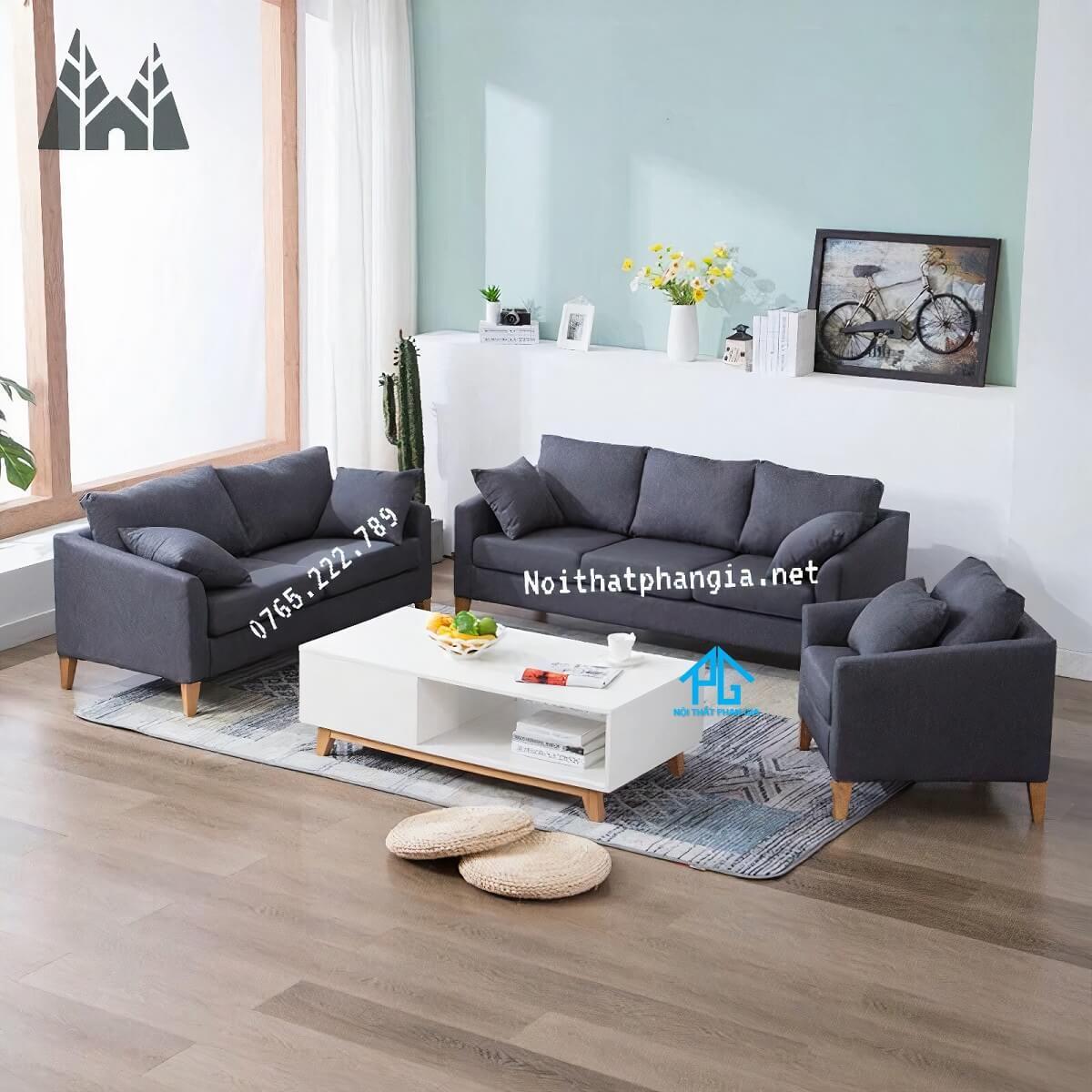 sofa vải nỉ giá rẻ hcm