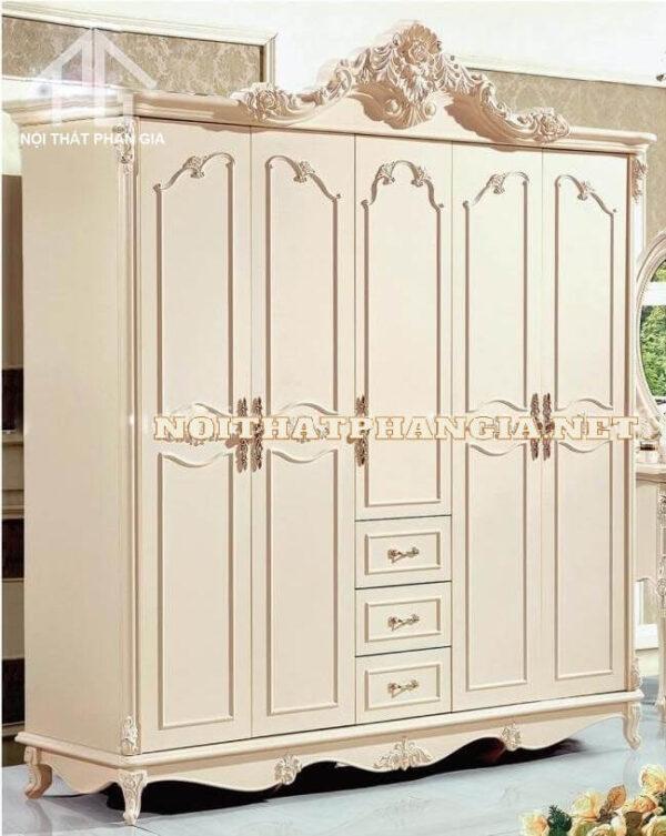 Tủ quần áo màu trắng CDM39