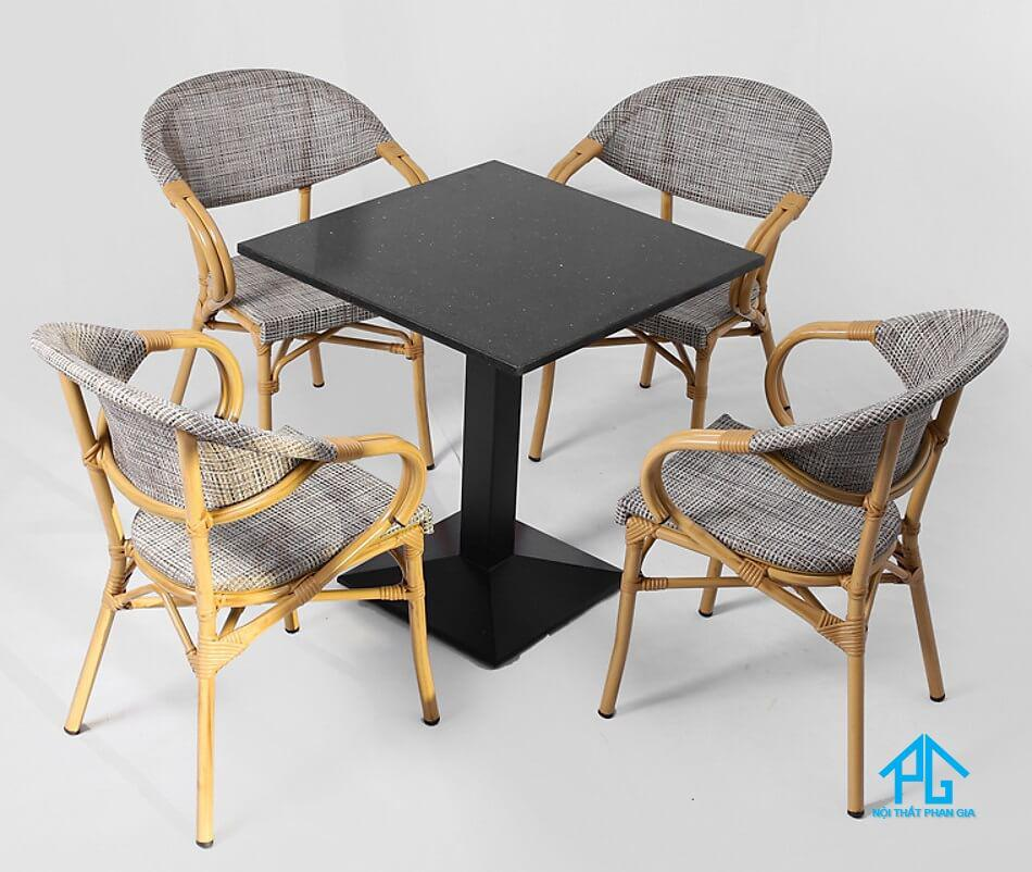 bàn ăn gỗ mặt đá granite giá rẻ
