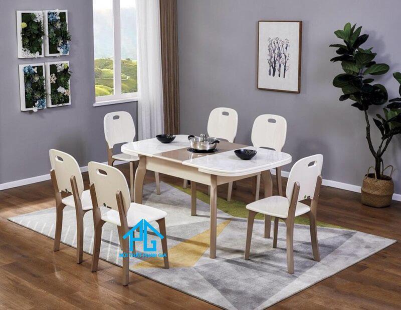 bàn ăn mặt đá đài loan