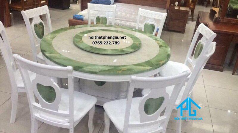 bàn ăn tròn mặt đá tp hcm