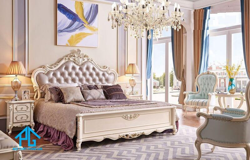 bộ giường tủ tân cổ điển giá rẻ