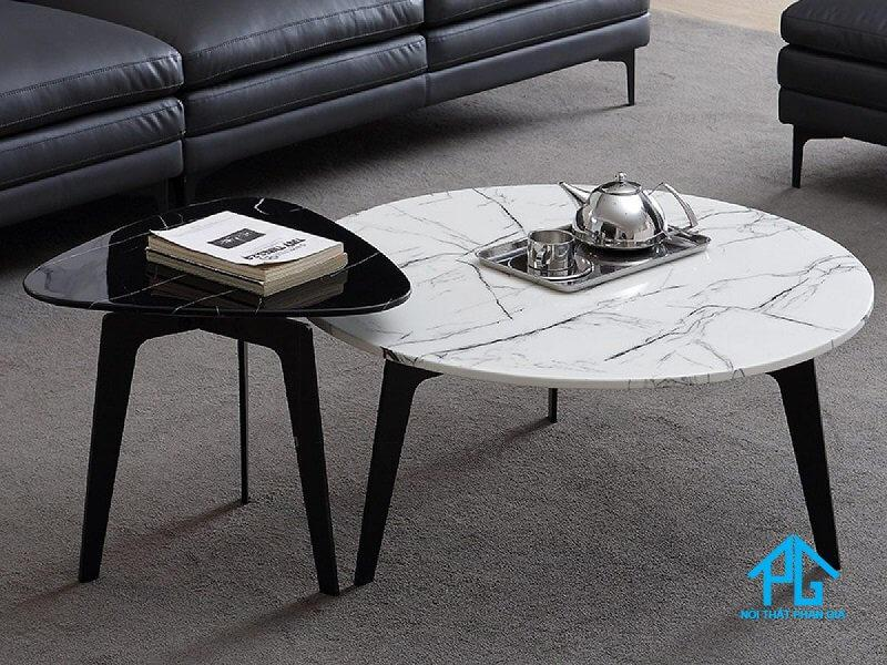 bộ bàn ăn đôi marble