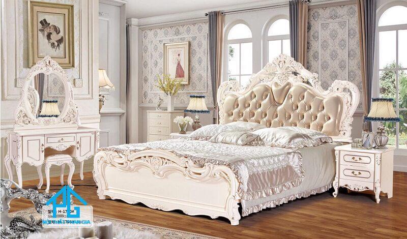 combo giường tủ tân cổ điển giá rẻ