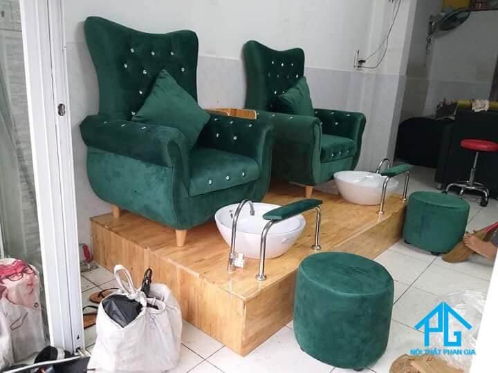 ghế sofa đơn làm nail sang chảnh