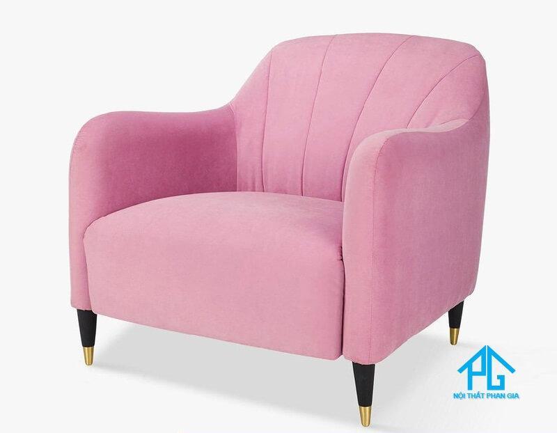 ghế sopha đơn đẹp màu hồng