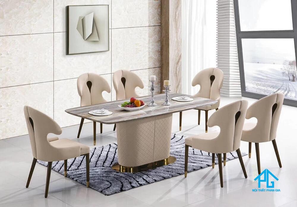 mẫu bàn ăn mặt đá granite đẹp