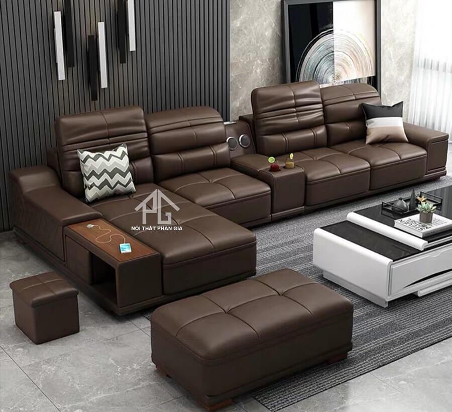 Sofa da hiện đại E40