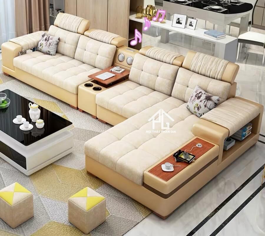 Sofa da hiện đại E41