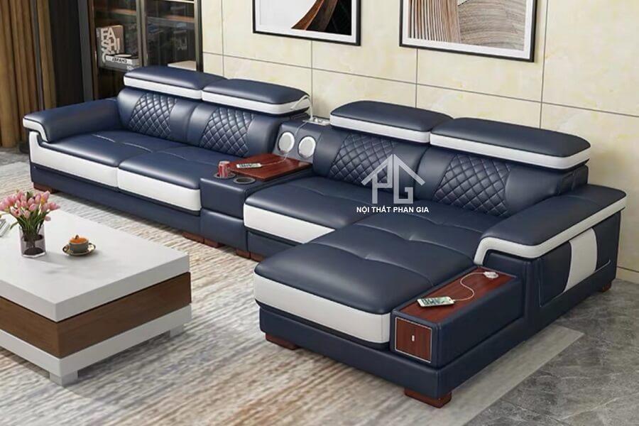 Sofa da hiện đại E42