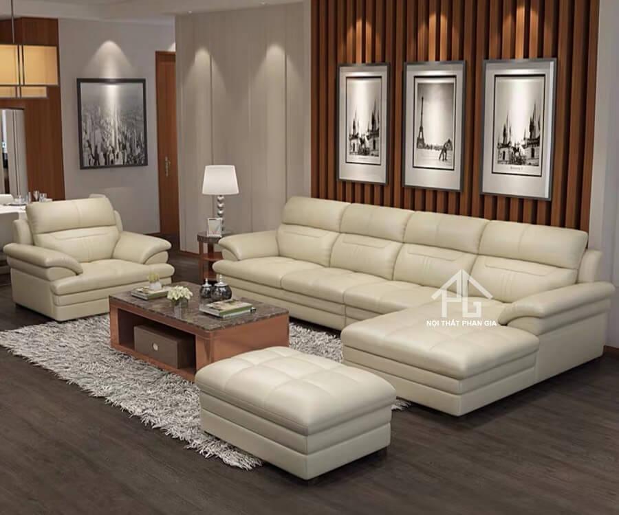 Sofa da hiện đại E45
