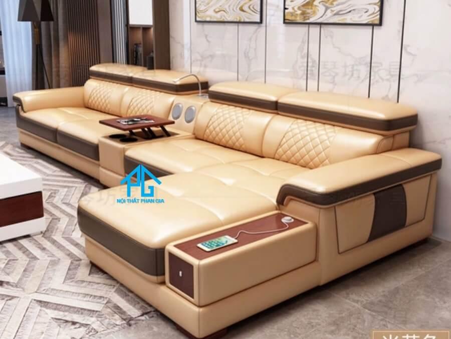 Sofa da hiện đại E46