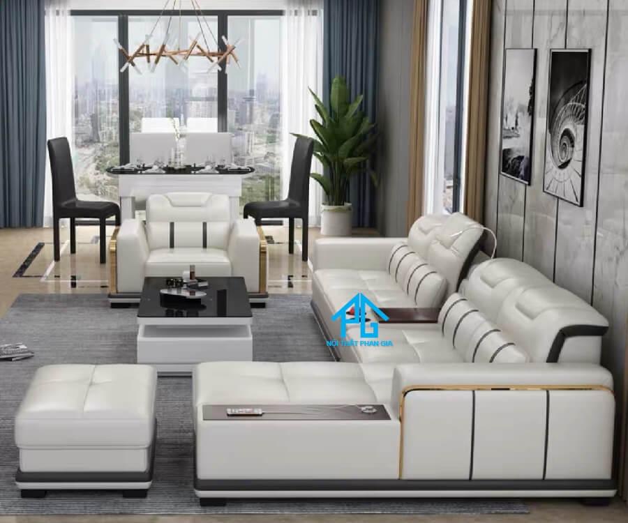 Sofa da hiện đại E47 - AQ