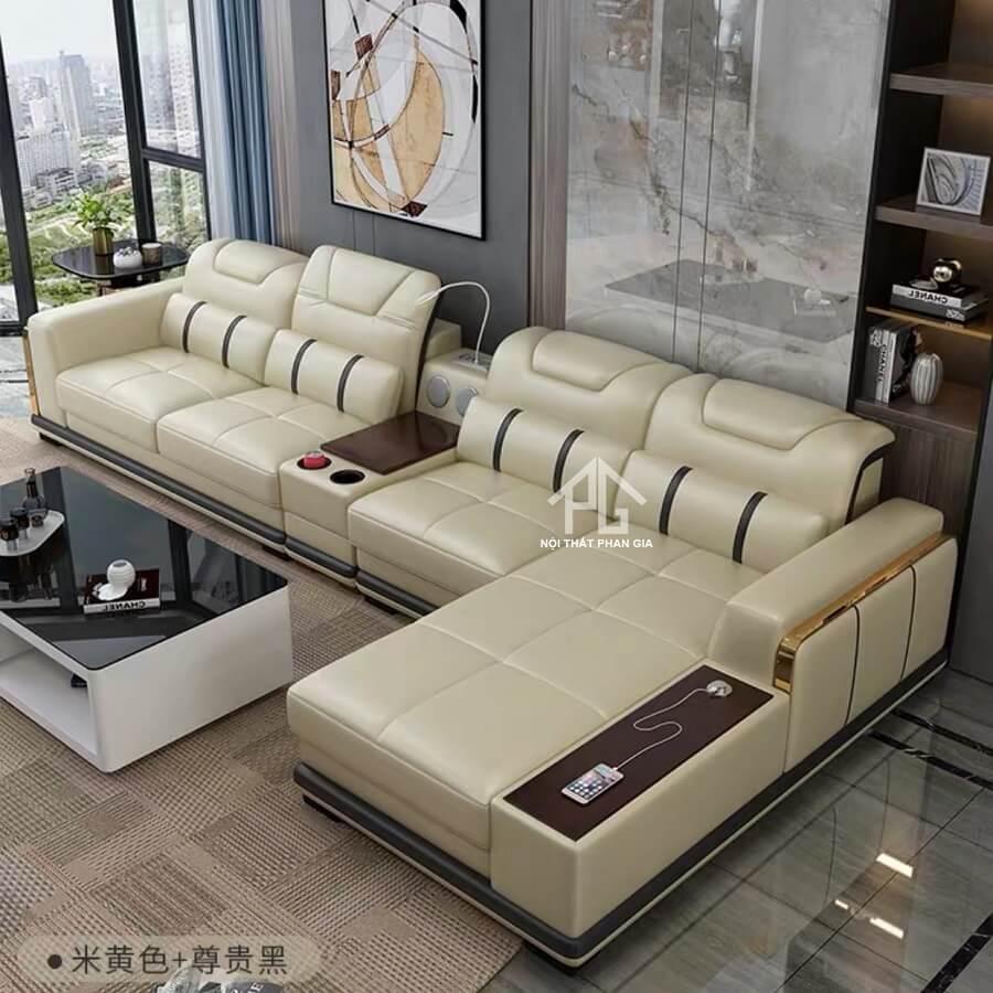 Sofa da hiện đại E47