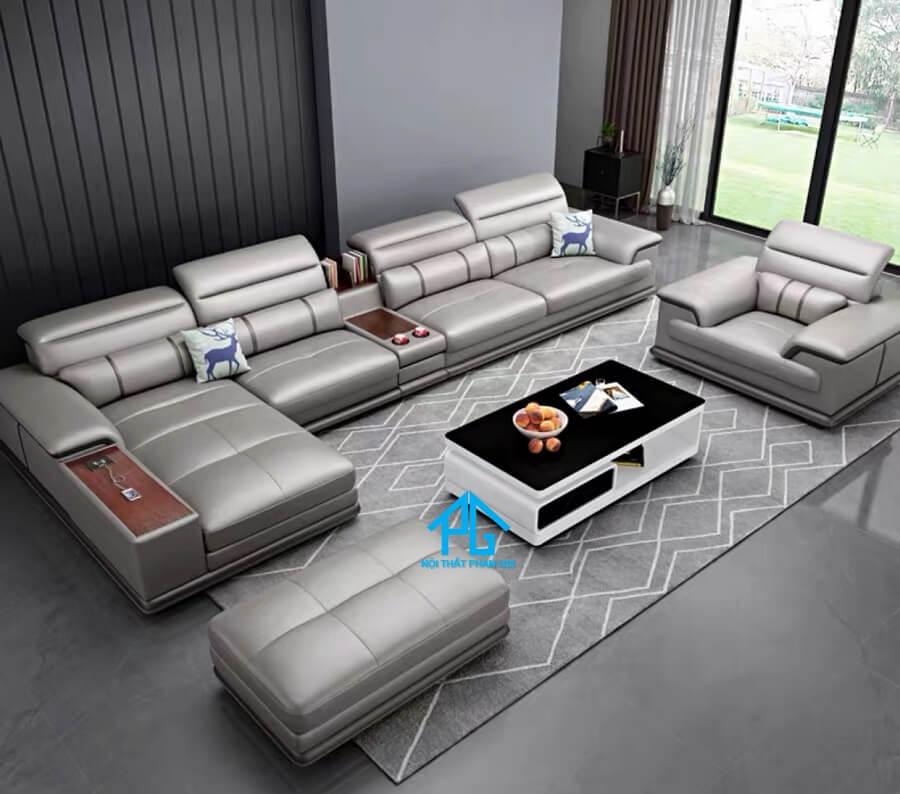 Sofa da hiện đại E48 - AS