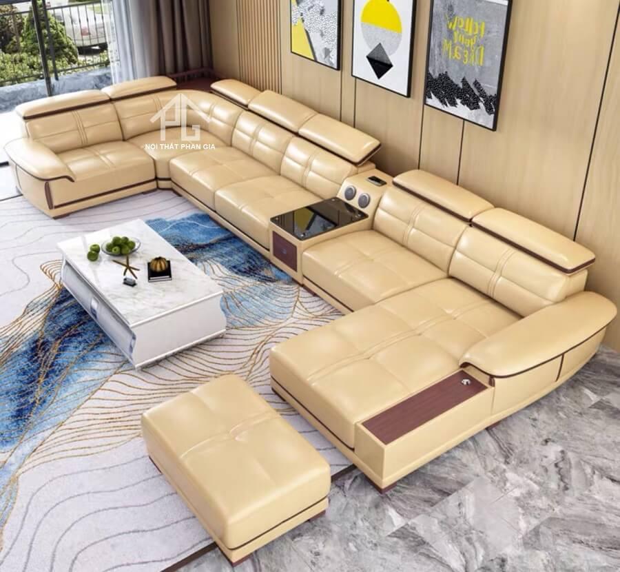 Sofa da hiện đại CHỮ U ( E 43)