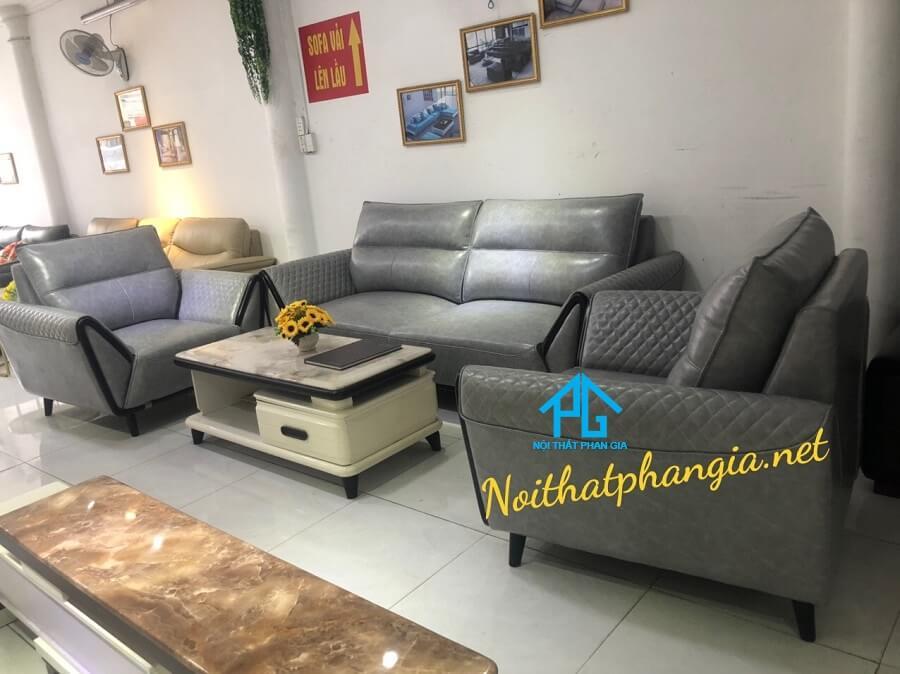 Sofa da nhập khẩu KB 1221
