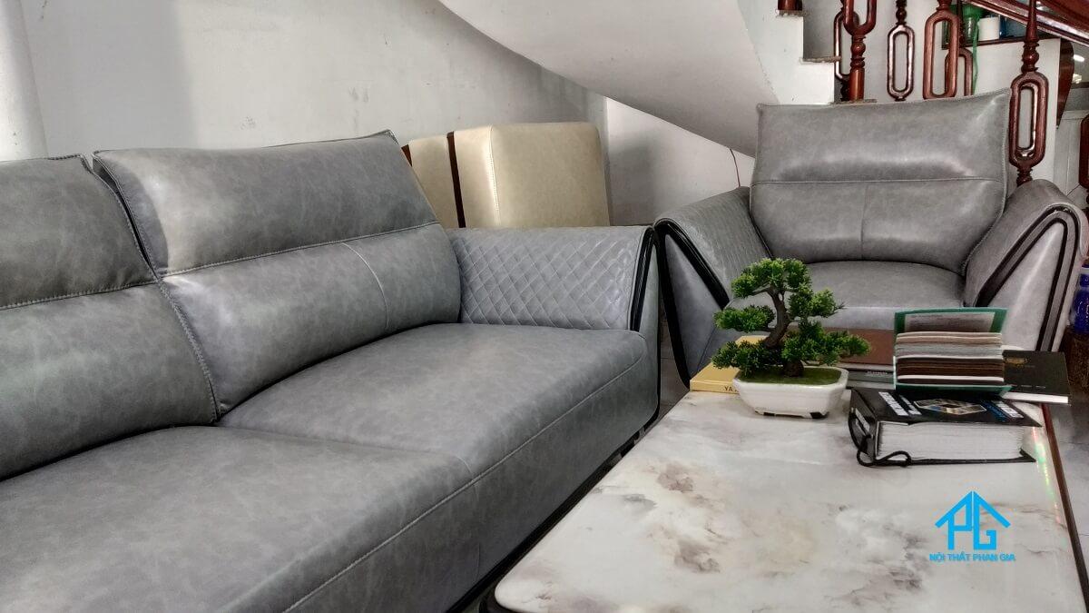 sofa da xịn cao cấp kb1221