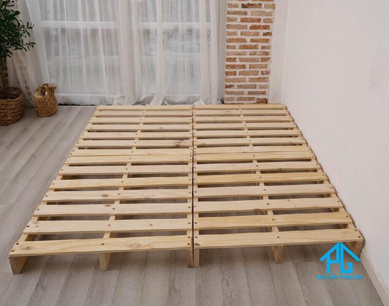 thanh lý giường gỗ pallet