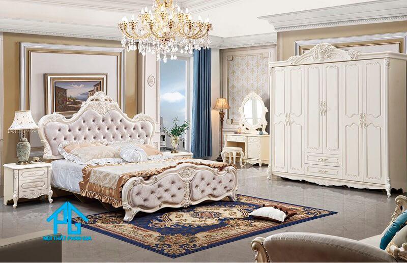 top bộ giường tủ tân cổ điển cao cấp