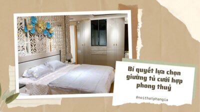 bí quyết lựa chọn giường tủ cưới hợp phong thuỷ