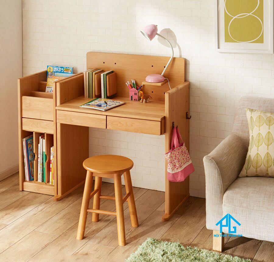 bộ bàn học cho bé bằng gỗ tự nhiên