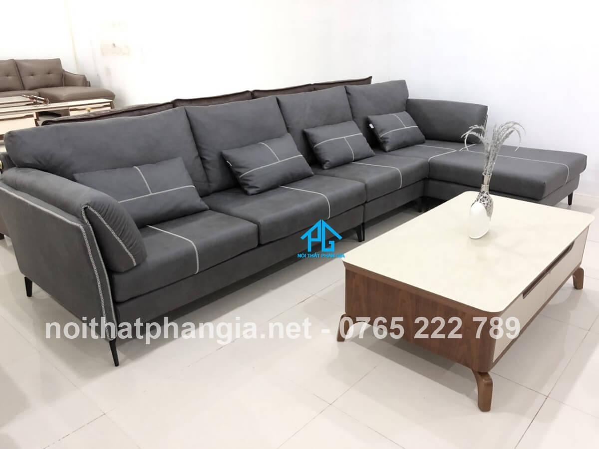 ghế sofa da đẹp hiện đại;